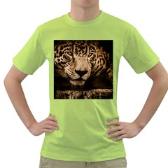 Jaguar Water Stalking Eyes Green T Shirt