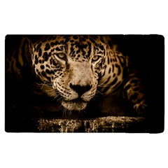 Jaguar Water Stalking Eyes Apple Ipad 2 Flip Case