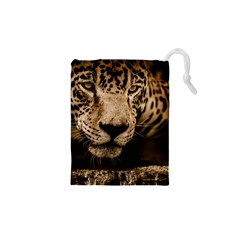 Jaguar Water Stalking Eyes Drawstring Pouches (xs)