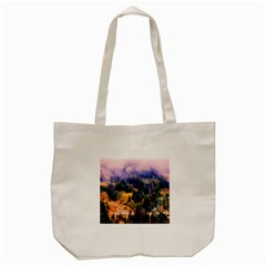 Landscape Fog Mist Haze Forest Tote Bag (cream)