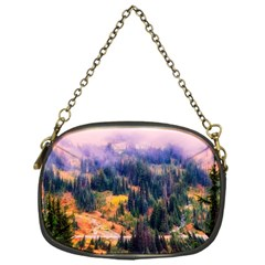 Landscape Fog Mist Haze Forest Chain Purses (one Side)  by BangZart
