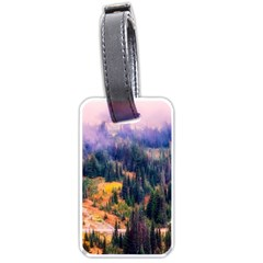 Landscape Fog Mist Haze Forest Luggage Tags (one Side)  by BangZart