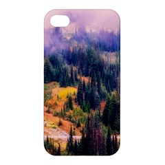 Landscape Fog Mist Haze Forest Apple Iphone 4/4s Premium Hardshell Case