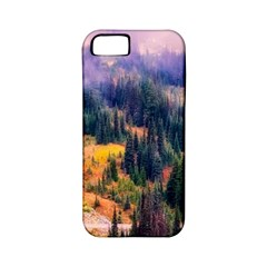Landscape Fog Mist Haze Forest Apple Iphone 5 Classic Hardshell Case (pc+silicone) by BangZart