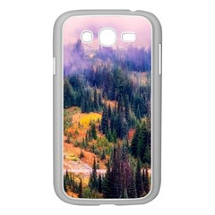 Landscape Fog Mist Haze Forest Samsung Galaxy Grand Duos I9082 Case (white) by BangZart