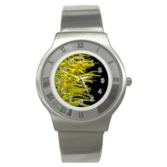 Golden Rod Gold Diamond Stainless Steel Watch