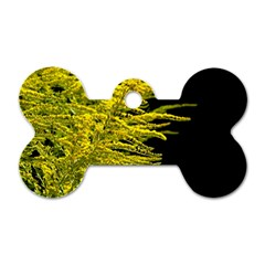 Golden Rod Gold Diamond Dog Tag Bone (two Sides)