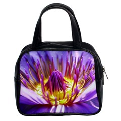 Flower Blossom Bloom Nature Classic Handbags (2 Sides) by BangZart