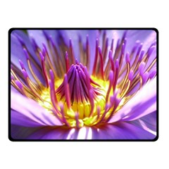 Flower Blossom Bloom Nature Double Sided Fleece Blanket (small)