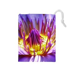Flower Blossom Bloom Nature Drawstring Pouches (medium)  by BangZart