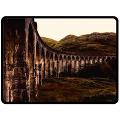 Viaduct Structure Landmark Historic Double Sided Fleece Blanket (large)