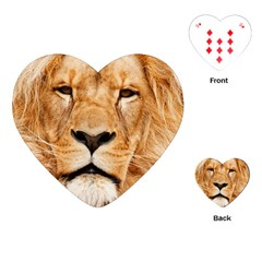 Africa African Animal Cat Close Up Playing Cards (heart)