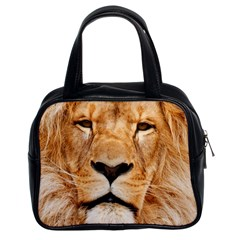 Africa African Animal Cat Close Up Classic Handbags (2 Sides)