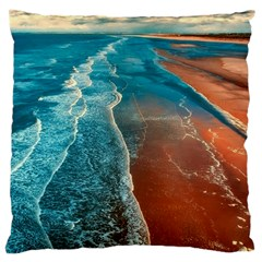 Sea Ocean Coastline Coast Sky Large Cushion Case (one Side)