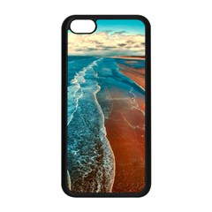 Sea Ocean Coastline Coast Sky Apple Iphone 5c Seamless Case (black)