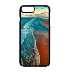 Sea Ocean Coastline Coast Sky Apple Iphone 8 Plus Seamless Case (black)