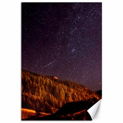 Italy Cabin Stars Milky Way Night Canvas 12  X 18   by BangZart