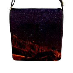 Italy Cabin Stars Milky Way Night Flap Messenger Bag (l)