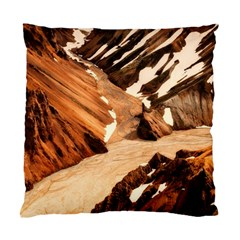Iceland Mountains Snow Ravine Standard Cushion Case (two Sides)