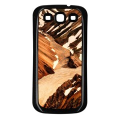Iceland Mountains Snow Ravine Samsung Galaxy S3 Back Case (black) by BangZart