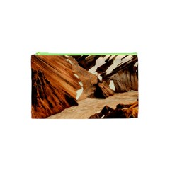 Iceland Mountains Snow Ravine Cosmetic Bag (xs)