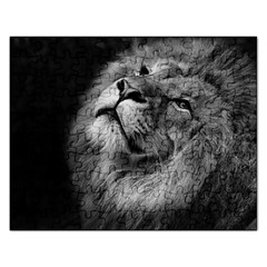 Feline Lion Tawny African Zoo Rectangular Jigsaw Puzzl by BangZart