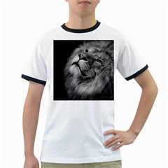 Feline Lion Tawny African Zoo Ringer T-shirts