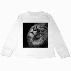 Feline Lion Tawny African Zoo Kids Long Sleeve T Shirts