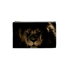 African Lion Mane Close Eyes Cosmetic Bag (small)  by BangZart