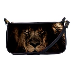 African Lion Mane Close Eyes Shoulder Clutch Bags by BangZart