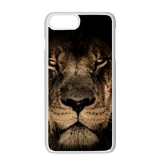 African Lion Mane Close Eyes Apple Iphone 7 Plus Seamless Case (white)
