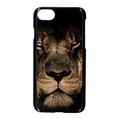 African Lion Mane Close Eyes Apple Iphone 7 Seamless Case (black)