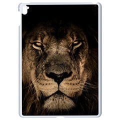 African Lion Mane Close Eyes Apple Ipad Pro 9 7   White Seamless Case