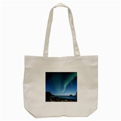 Aurora Borealis Lofoten Norway Tote Bag (cream)
