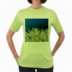 Crown Aesthetic Branches Hoarfrost Women s Green T Shirt