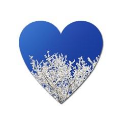 Crown Aesthetic Branches Hoarfrost Heart Magnet by BangZart