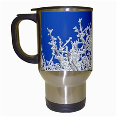 Crown Aesthetic Branches Hoarfrost Travel Mugs (white) by BangZart
