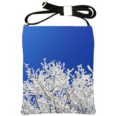 Crown Aesthetic Branches Hoarfrost Shoulder Sling Bags by BangZart