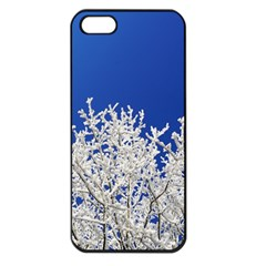 Crown Aesthetic Branches Hoarfrost Apple Iphone 5 Seamless Case (black)
