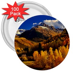 Colorado Fall Autumn Colorful 3  Buttons (100 Pack)  by BangZart