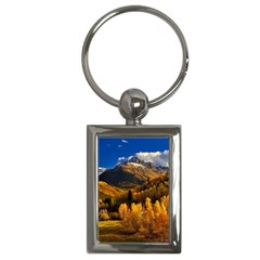 Colorado Fall Autumn Colorful Key Chains (rectangle)