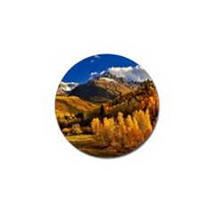 Colorado Fall Autumn Colorful Golf Ball Marker by BangZart
