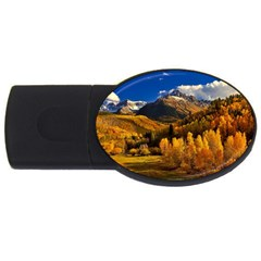 Colorado Fall Autumn Colorful Usb Flash Drive Oval (4 Gb) by BangZart