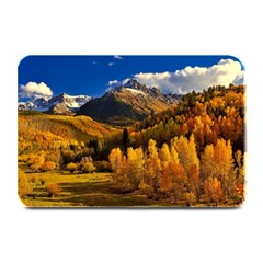 Colorado Fall Autumn Colorful Plate Mats by BangZart