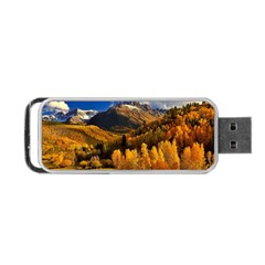 Colorado Fall Autumn Colorful Portable Usb Flash (one Side) by BangZart