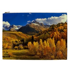 Colorado Fall Autumn Colorful Cosmetic Bag (xxl)