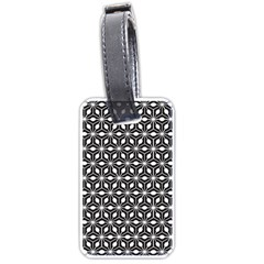 Asterisk Black White Pattern Luggage Tags (one Side)