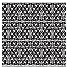 Asterisk Black White Pattern Large Satin Scarf (square) by Cveti