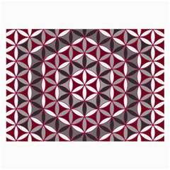 Flower Of Life Pattern Red Grey 01 Large Glasses Cloth by Cveti