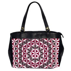Flower Of Life Pattern Red Grey 01 Office Handbags (2 Sides)  by Cveti